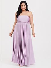 Special Occasion Lavender Purple Convertible Maxi Dress, LAVENDER MIST, alternate