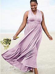 Special Occasion Lavender Purple Convertible Maxi Dress, LAVENDER MIST, hi-res