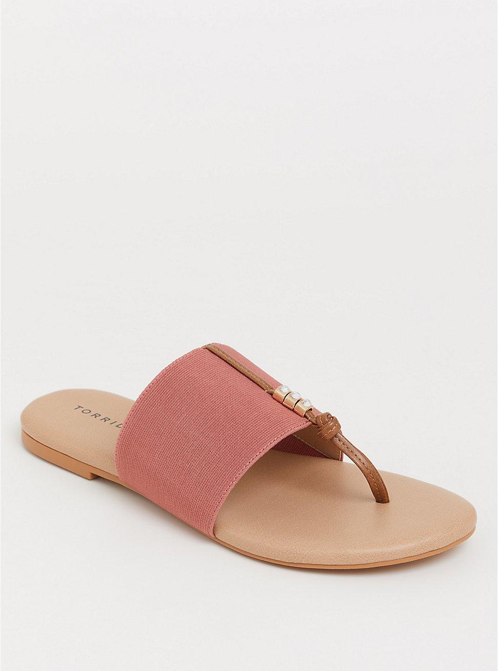 Plus Size Blush Elastic Sandal (WW), BLUSH, hi-res