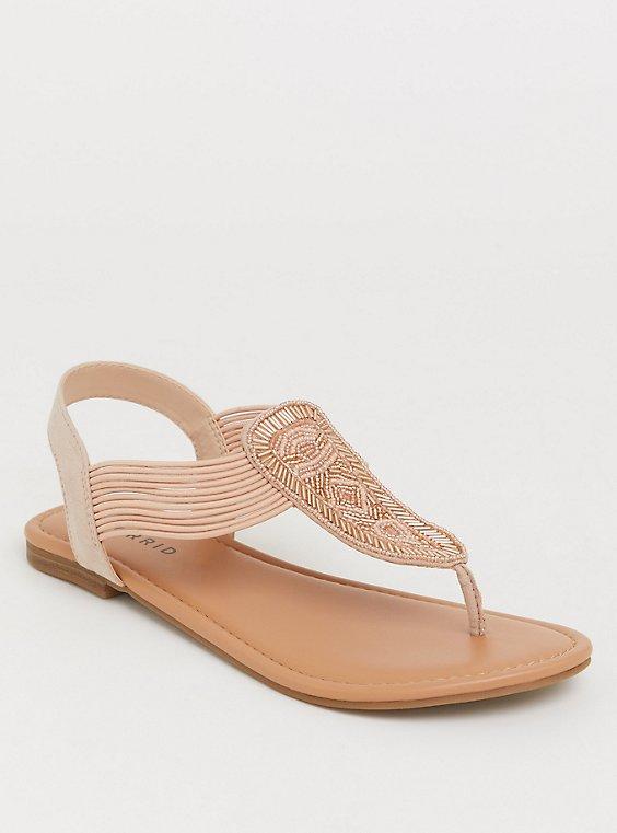 Blush Seabead T-Strap Sandal (WW), , hi-res