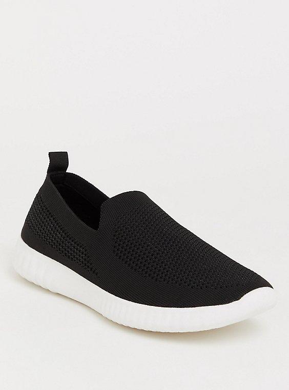 Black Mesh Knit Sneaker (WW), , hi-res