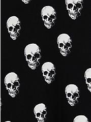 Black Skull Jersey Handkerchief Dress, , alternate