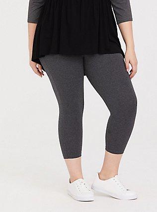 Capri Premium Legging - Heathered Dark Grey, GRAY HTR, hi-res