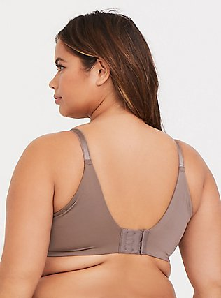 Dark Taupe Microfiber 360° Back Smoothing™ Push-Up T-Shirt Bra, SEASIDE TAUPE, alternate