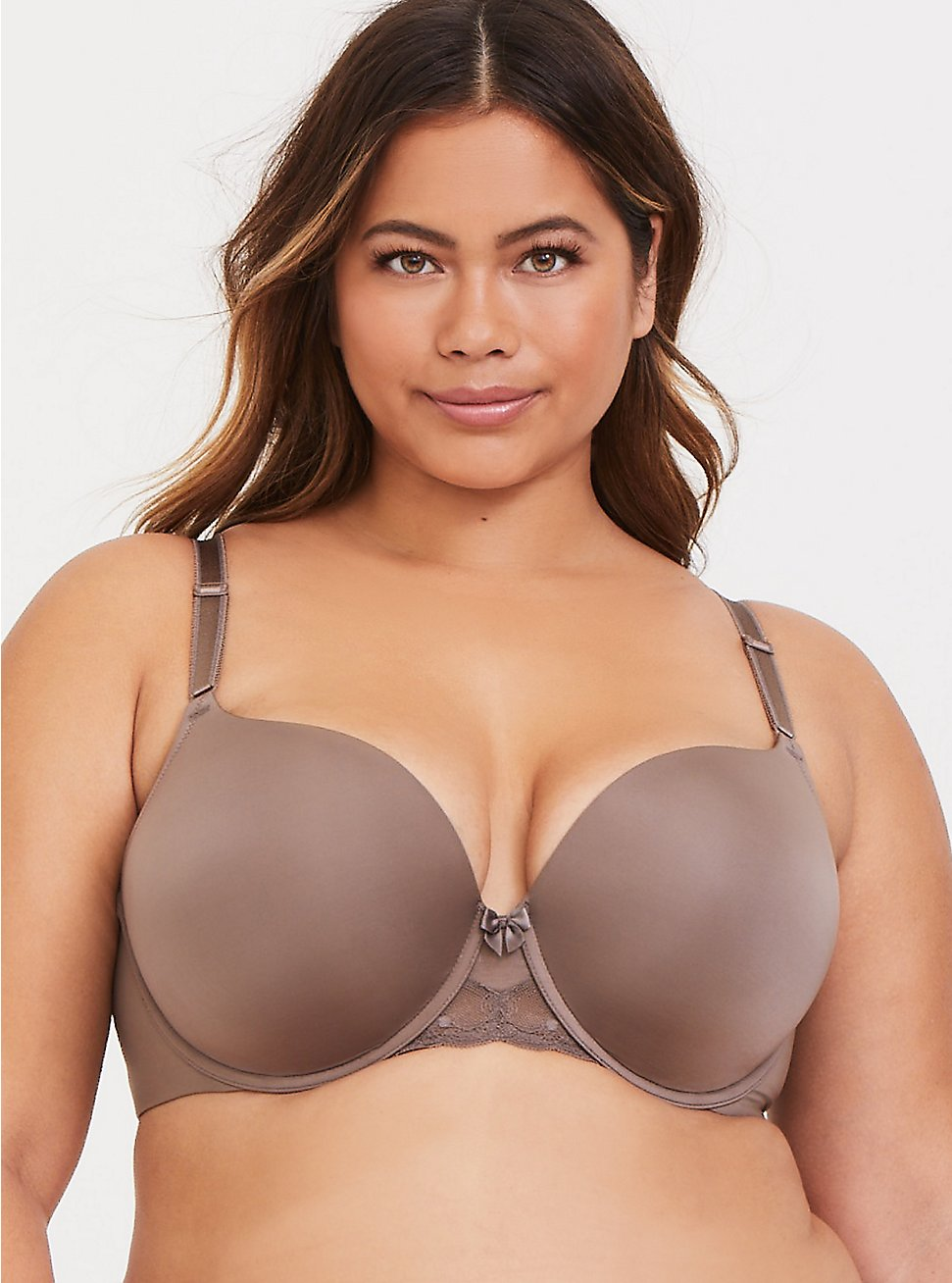 Dark Taupe 360° Back Smoothing™ Push-Up T-Shirt Bra, SEASIDE TAUPE, hi-res