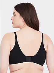 Black Cotton 360° Back Smoothing™ Lightly Lined T-Shirt Bra, RICH BLACK, alternate