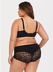 Plus Size Black Lace Maximum Support Lightly Lined Full Coverage Bra, RICH BLACK, alternate