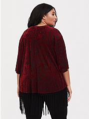 Plus Size Her Universe Jafar Fringe Kimono, RED, alternate
