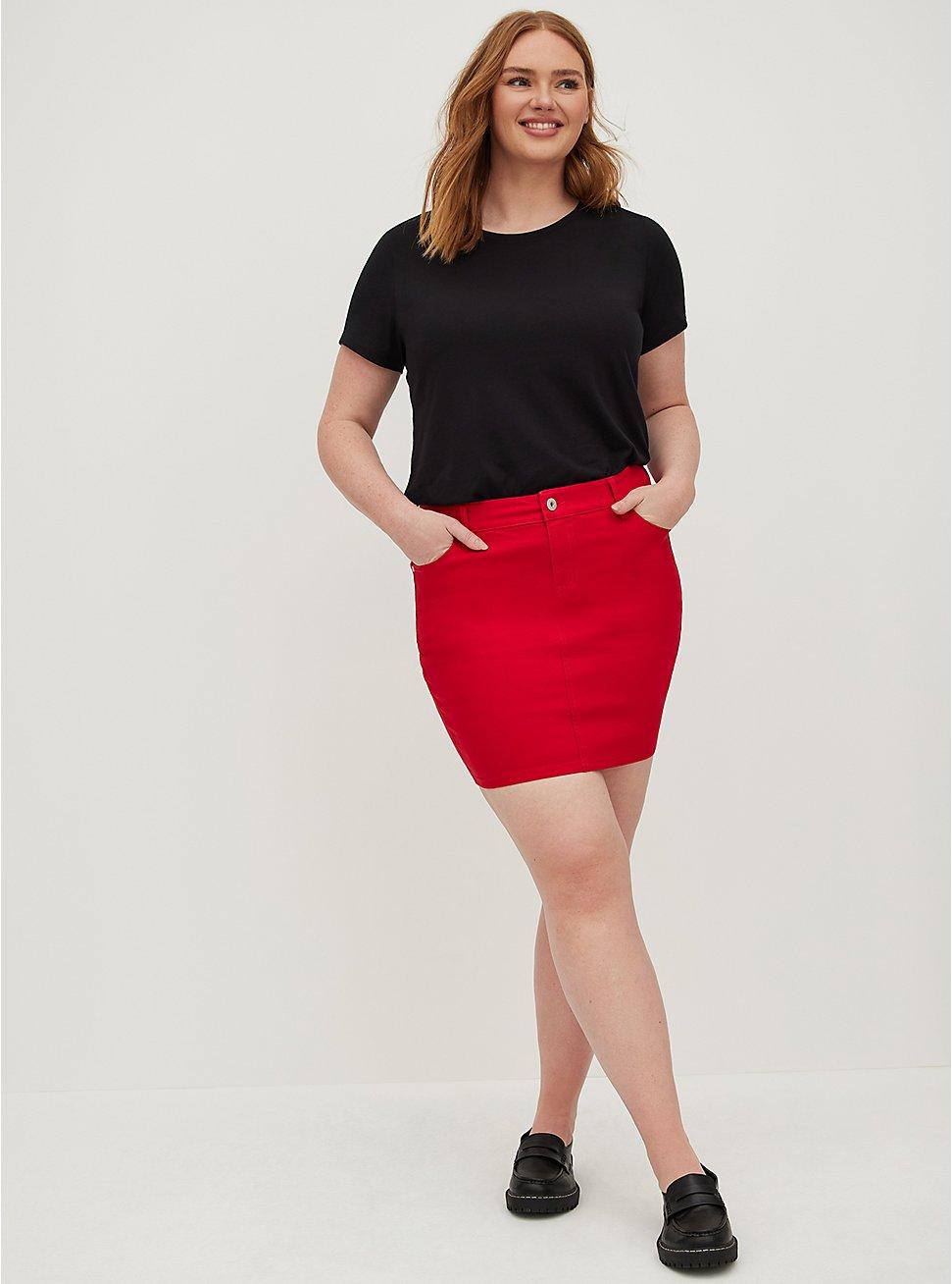 Ruby Red Denim Mini Skirt, RUBY TUESDAY, hi-res