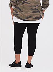 Crop Premium Legging - Lace-Up Black, BLACK, alternate