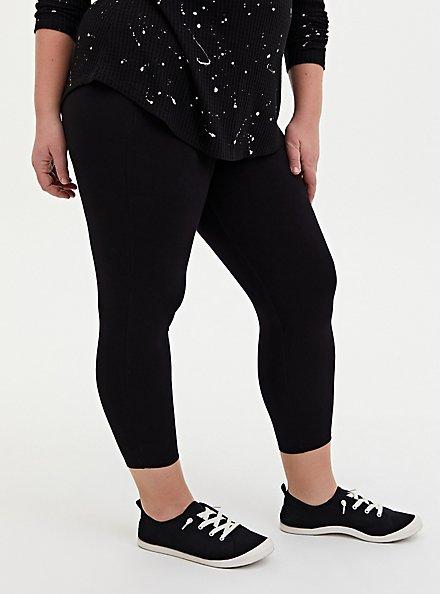 Crop Slim Fix Premium Legging - Black, BLACK, alternate
