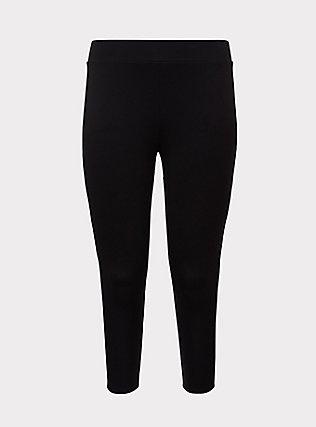 Crop Slim Fix Premium Legging - Black, BLACK, flat