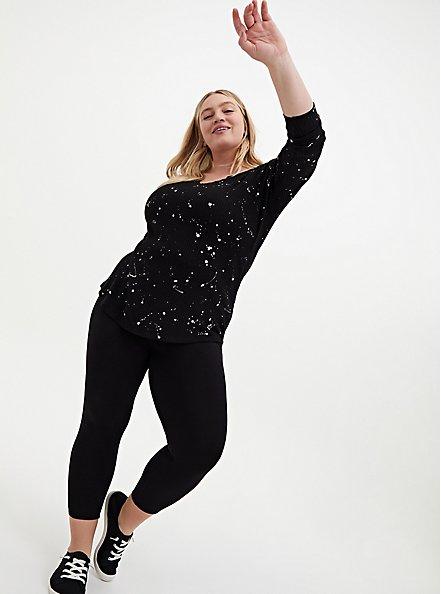 Crop Slim Fix Premium Legging - Black, BLACK, hi-res
