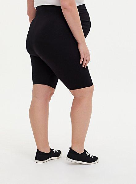Black Maternity Bike Short, BLACK, alternate