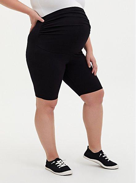 Black Maternity Bike Short, BLACK, hi-res