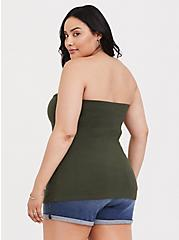 Olive Green Knot Front Foxy Tube Top, DEEP DEPTHS, alternate