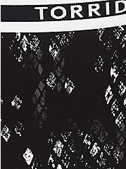 Torrid Logo Black Snakeskin Print Cotton Cheeky Panty, SNAKESKIN-BLACK, alternate