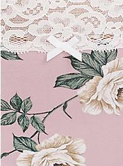 Mauve Pink Floral Wide Lace Cotton Brief Panty, FLORALS-PURPLE, alternate