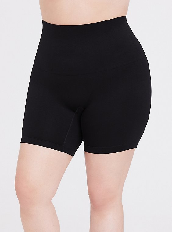 Black Seamless High Waist Bike Short, , hi-res