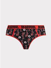 Plus Size Marvel Deadpool Red & Black Cotton Hipster Panty, MULTI, hi-res