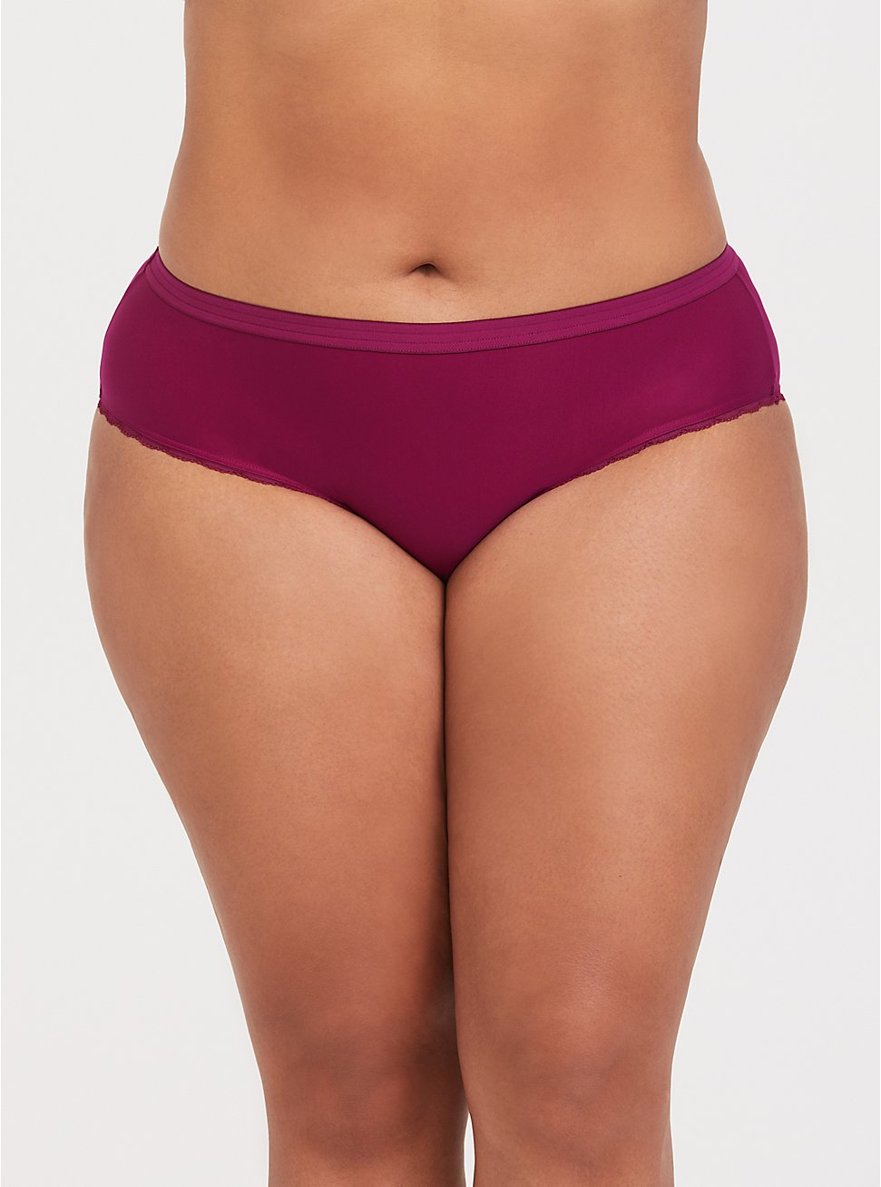Super Soft Berry Purple Microfiber Hipster Panty, GRAPE SEED, hi-res