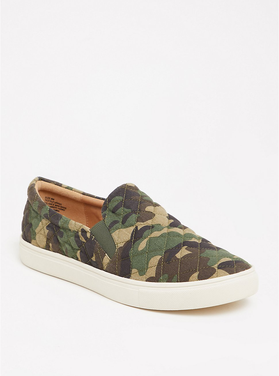 Plus Size Camo Quilted Slip-On Sneaker (WW), CAMO, hi-res