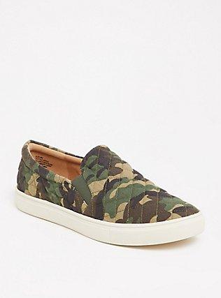 Camo Quilted Slip-On Sneaker (Wide Width), CAMO, hi-res