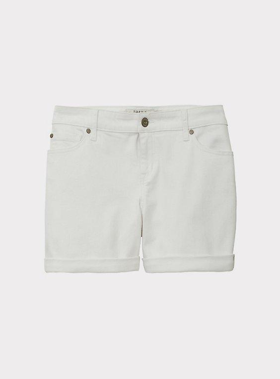Denim Mid Short - Vintage Stretch White, , flat