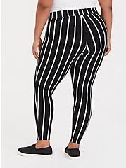 Premium Legging - Stripe Black & White, MULTI, alternate