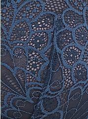 Dark Teal Lace Unlined Balconette Bra, MOON RIVER BLUE, alternate