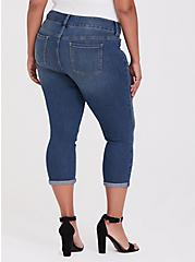 Crop Jegging - Super Stretch Medium Wash, ADRIATIC SEA, alternate