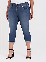 Crop Jegging - Super Stretch Medium Wash, ADRIATIC SEA, hi-res