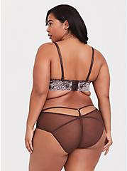 Raisin Brown Lace Caged Hipster Panty, CHOCOLATE RAISIN BROWN, alternate