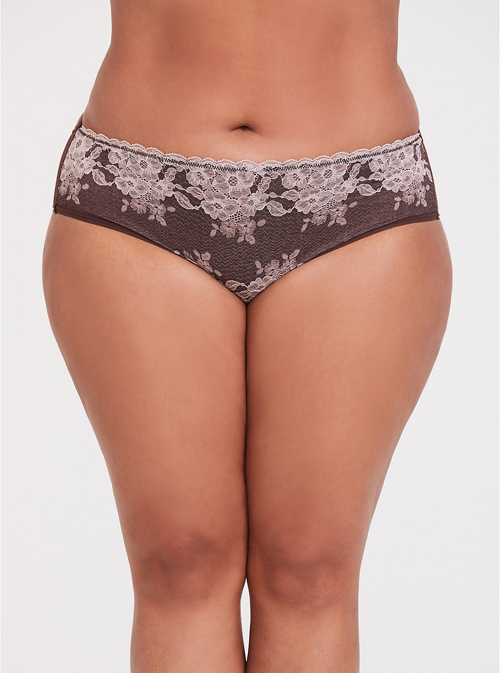 Raisin Brown Lace Caged Hipster Panty, CHOCOLATE RAISIN BROWN, hi-res