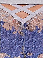 Sapphire Blue & Grey Lattice Back Lace Cheeky Panty, LIMOGES BLUE, alternate