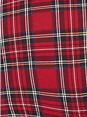 Plus Size Torrid Logo Red Plaid Cotton Boyshort Panty, PLAID-RED, alternate