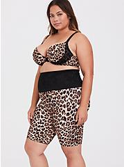 Leopard Black Lace Microfiber 360° Smoothing High Waist Short, LEOPARD-BROWN, alternate