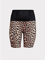Leopard Black Lace Microfiber 360° Smoothing High Waist Short, LEOPARD-BROWN, hi-res