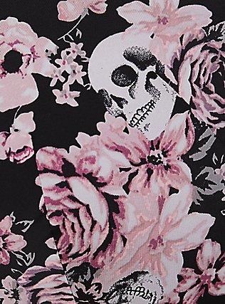 Black Skull Floral 360° Back Smoothing™ Lightly Lined T-Shirt Bra, FLORAL SKULL BOUQUET, alternate