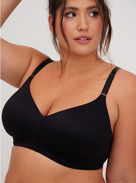 Black 360° Back Smoothing™ Lightly Lined Everyday Wire-Free Bra, RICH BLACK, alternate