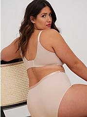 Beige Microfiber 360° Back Smoothing™ XO Push-Up Plunge Bra, ROSE DUST, alternate
