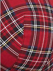 Torrid Logo Red Plaid Cotton Lightly Lined T-Shirt Bra, PUNK PLAID, alternate