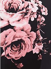 Plus Size Breast Cancer Awareness - Floral Microfiber Push-Up Plunge Bra, FLORAL - PINK, alternate