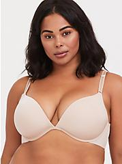 Nude Microfiber 360° Back Smoothing™ Lightly Lined Plunge Bra, ROSE DUST, hi-res