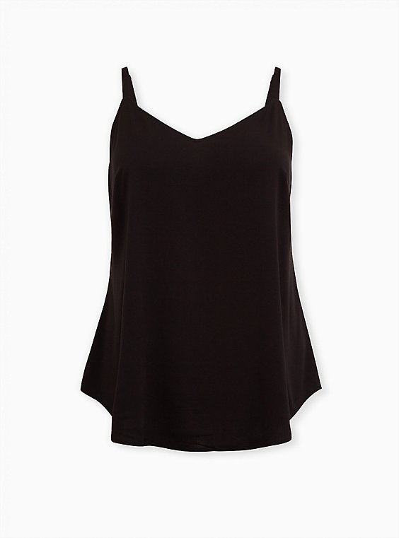 Essential Black Challis Cami, DEEP BLACK, ls