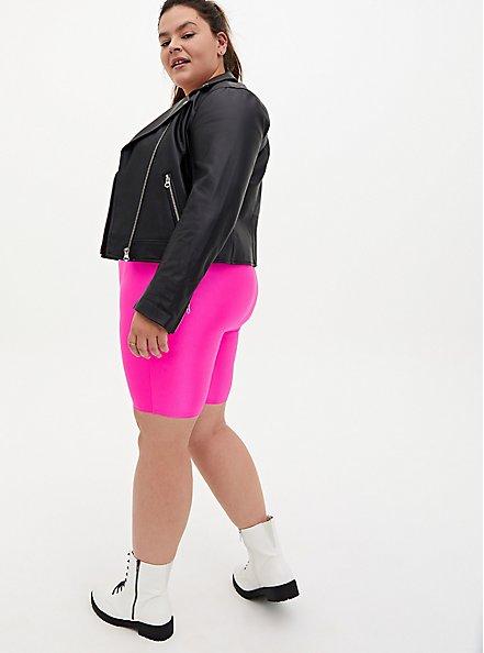 Neon Pink Liquid Bike Short, PINK GLO, alternate