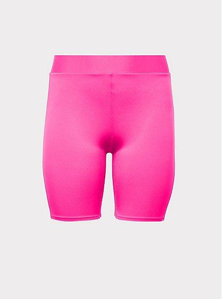 Neon Pink Liquid Bike Short, PINK GLO, hi-res