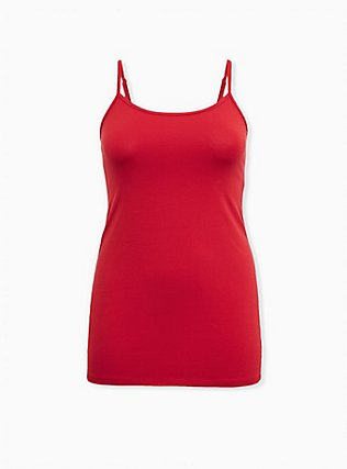 Red Scoop Neck Tunic Foxy Cami, JESTER RED, flat