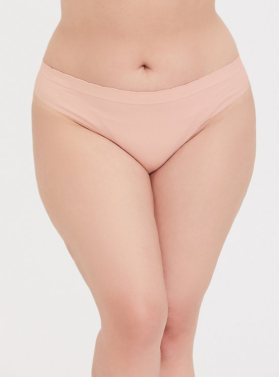 Breast Cancer Awareness - Blush Pink Seamless Thong Panty, , hi-res