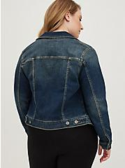 Denim Trucker Jacket - Medium Wash, DARK DENIM, alternate
